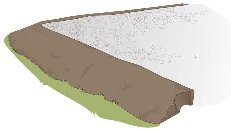 Economy stone base foundation