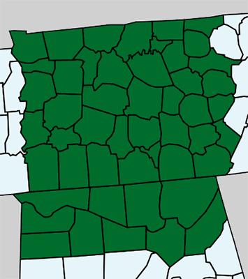 Middle TN, Nashville, Northern AL map