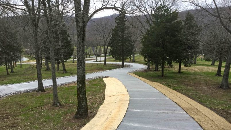 Concrete driveway view to road Nashville